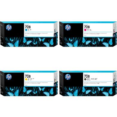 HP 728 Extra High Capacity Ink Multipack CMYK (300ml)