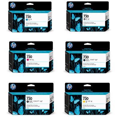 HP 730 DesignJet Ink Value Pack (6 x 130ml)