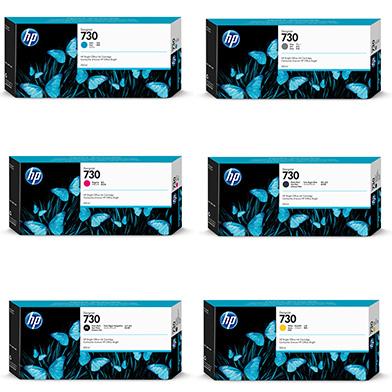 HP 730 High Capacity DesignJet Ink Value Pack (6 x 300ml)