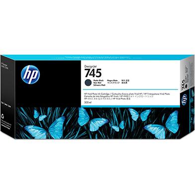 HP F9K05A 745 Matte Black DesignJet Ink Cartridge 300ml