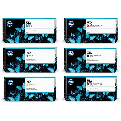 HP 746 Ink Cartridge Value Pack (6 x 300ml)