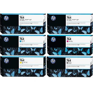 HP 764 Ink Cartridge Value Pack (300ml x 6)