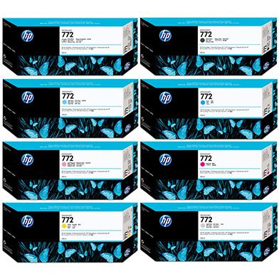 HP HP772INKVAL 772 Ink Cartridge Value Pack (300ml x 8)