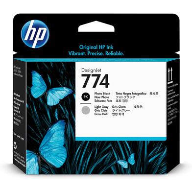 HP 774 Photo Black/Light Gray DesignJet Printhead