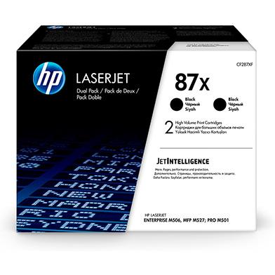 HP 87X Black High Yield Toner Cartridge Dual Pack (2 x 18,000 Pages)