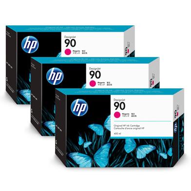 HP 90 3-Pack Magenta Ink Cartridges (3 x 400ml)