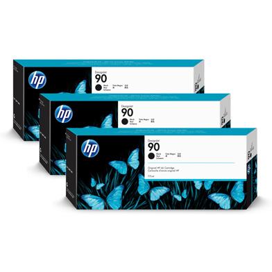 HP 90 3-Pack Black Ink Cartridges (3 x 775ml)