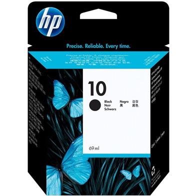 HP 10 Black Ink Cartridge (2,200 Pages)