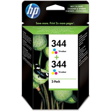 HP No.344 Tri-Colour Print Cartridge (2 Pack)