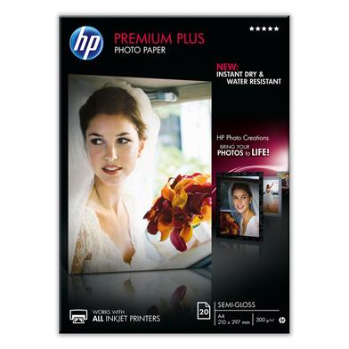 HP Premium Plus Semi-Gloss Photo Paper - 300gsm (20 Sheets / A4 / 210 x 297 mm)