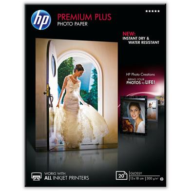 HP Premium Plus Glossy Photo Paper - 300gsm (20 Sheets / 13 x 18 cm)