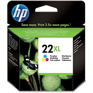 HP No.22XL Tri-Colour Ink Cartridge (415 Pages)
