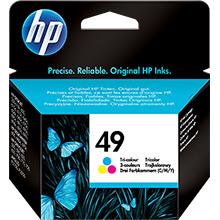 HP No.49 Tri-Colour Ink Cartridge (22.8ml)