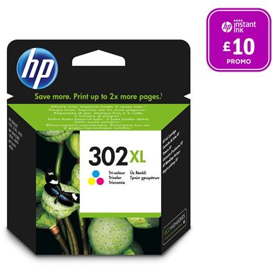 HP No.302XL Tri-Colour Ink Cartridge (330 Pages)