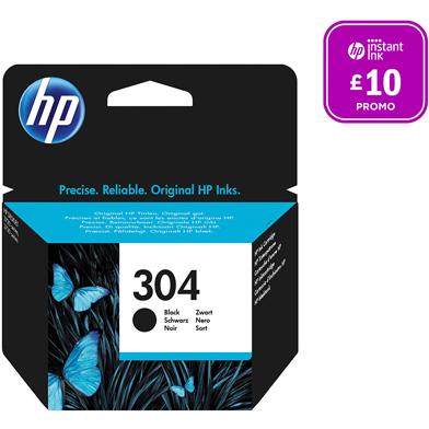 HP 304 Black Ink Cartridge (120 Pages)