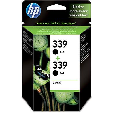 HP C9504EE No.339 Black Print Cartridge (2 Pack)