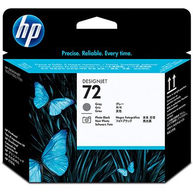 HP No.72 Grey and Photo Black Printheads