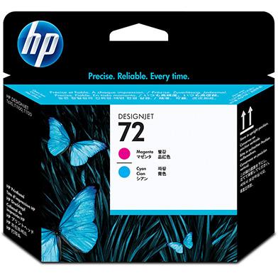 HP No.72 Magenta and Cyan Printheads