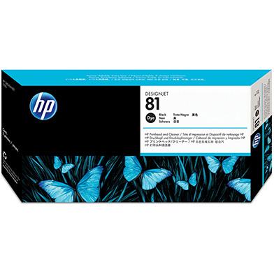 HP No.81 Black Dye Printhead and Printhead Cleaner