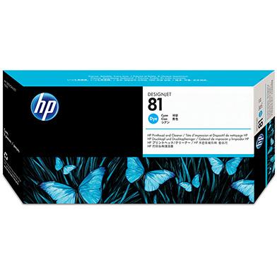 HP No.81 Cyan Dye Printhead and Printhead Cleaner