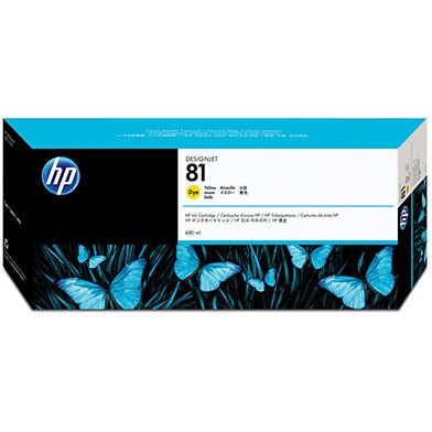 HP No.81 Yellow Dye Ink Cartridge (680ml)