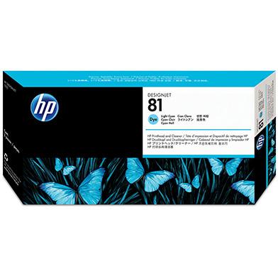 HP No.81 Light Cyan Dye Printhead and Printhead Cleaner