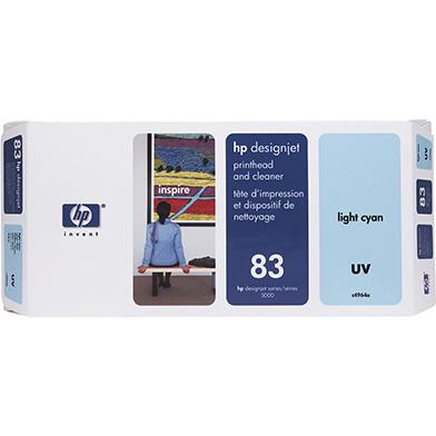 HP C4964A No.83 Light Cyan UV Printhead and Printhead Cleaner
