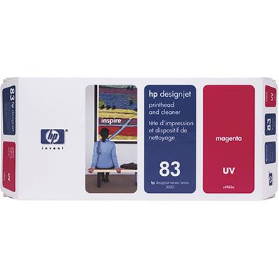 HP No.83 Magenta UV Printhead and Printhead Cleaner