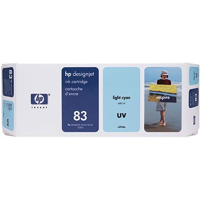 HP No.83 Light Cyan UV Ink Cartridge (680ml)