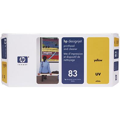 HP No.83 Yellow UV Printhead and Printhead Cleaner