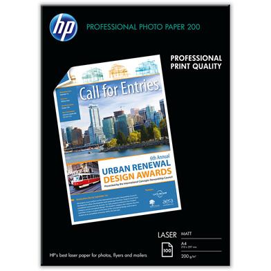 HP Professional Matte Laser Photo Paper - 200gsm (100 Sheets / A4 / 210 x 297 mm)