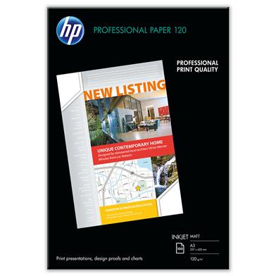 HP Professional Inkjet Matte Paper - 120gsm (100 Sheets / A3 / 297 x 420 mm)