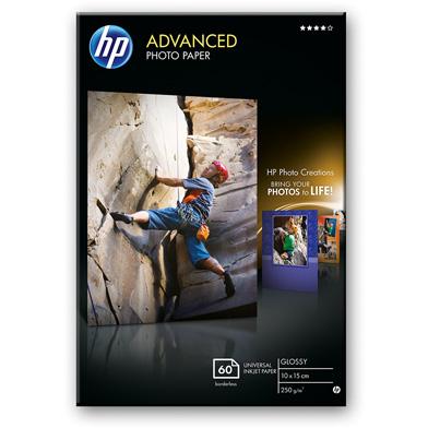 HP Advanced Glossy Photo Paper - 250gsm (60 Sheets / 10 x 15 cm Borderless)