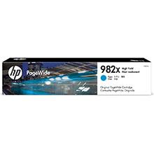 HP 982X High Yield Cyan Original PageWide Cartridge (16,000 Pages)