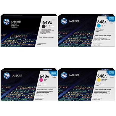 HP  648A/649X Tri-Duo Toner Bundle Pack CMY (11K Pages) K (34K Pages)