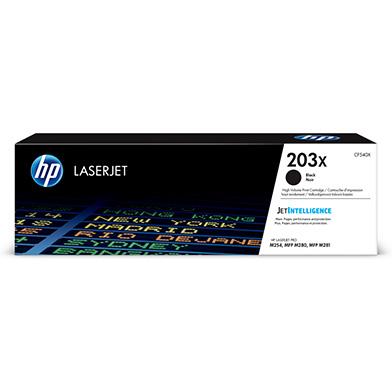 HP CF540X 203X High Capacity Black Toner Cartridge (3,200 Pages)
