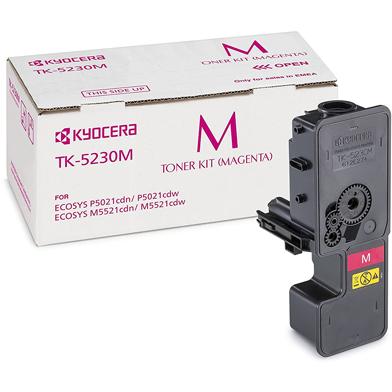 Kyocera 1T02R9BNL0 TK-5230M Magenta Toner Cartridge (2,200 Pages)