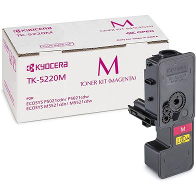Kyocera TK-5220M Magenta Toner Cartridge (1,200 Pages)
