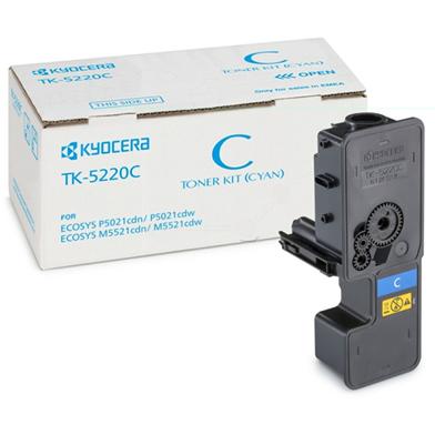 Kyocera 1T02R9CNL1 TK-5220C Cyan Toner Cartridge (1,200 Pages)