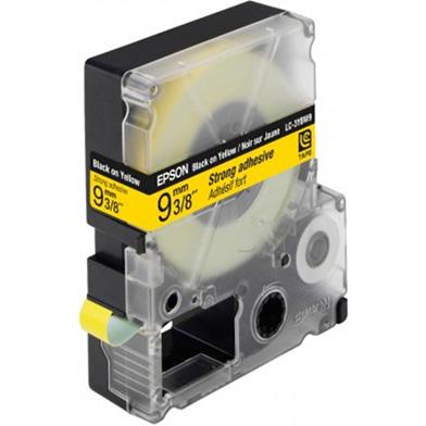 Black/Yellow 9mm (9m) tape
