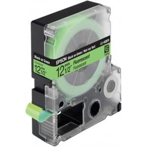Epson Black/Green 12mm (9m) tape