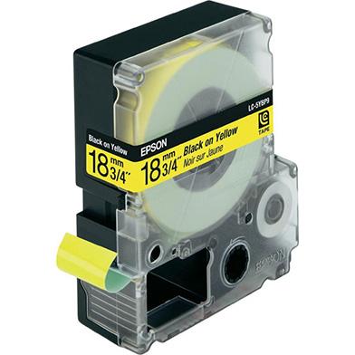 Black/Yellow 18mm (9m) tape