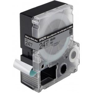 Epson Black/Matt Silver 24mm (9m) tape