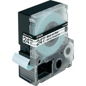 Epson Black/Transparent 24mm (9m) tape