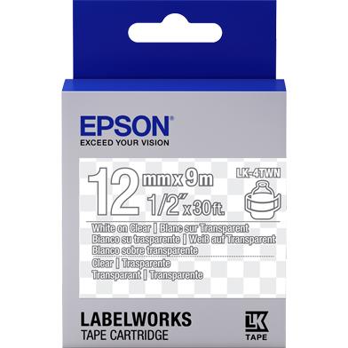 Epson LK-4TWN Transparent Label Cartridge (White/Transparent) (12mm x 9m)