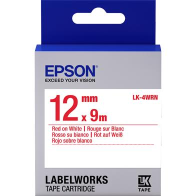 Epson LK-4WRN Standard Label Cartridge (Red/White) (12mm x 9m)