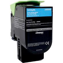 Lexmark 24B6008 24B6008 Cyan Toner Cartridge (3,000 Pages)