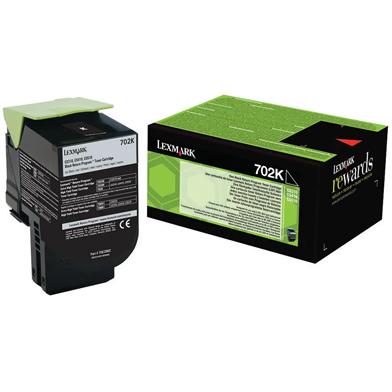 Lexmark 70C20K0 702K Black RP Toner Cartridge (1,000 Pages)