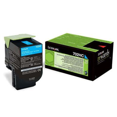 Lexmark 70C2HC0 702HC Cyan High Cap RP Toner Cartridge (3,000 Pages)