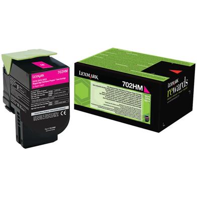 Lexmark 70C2HM0 702HM Magenta High Cap RP Toner Cartridge (3,000 Pages)